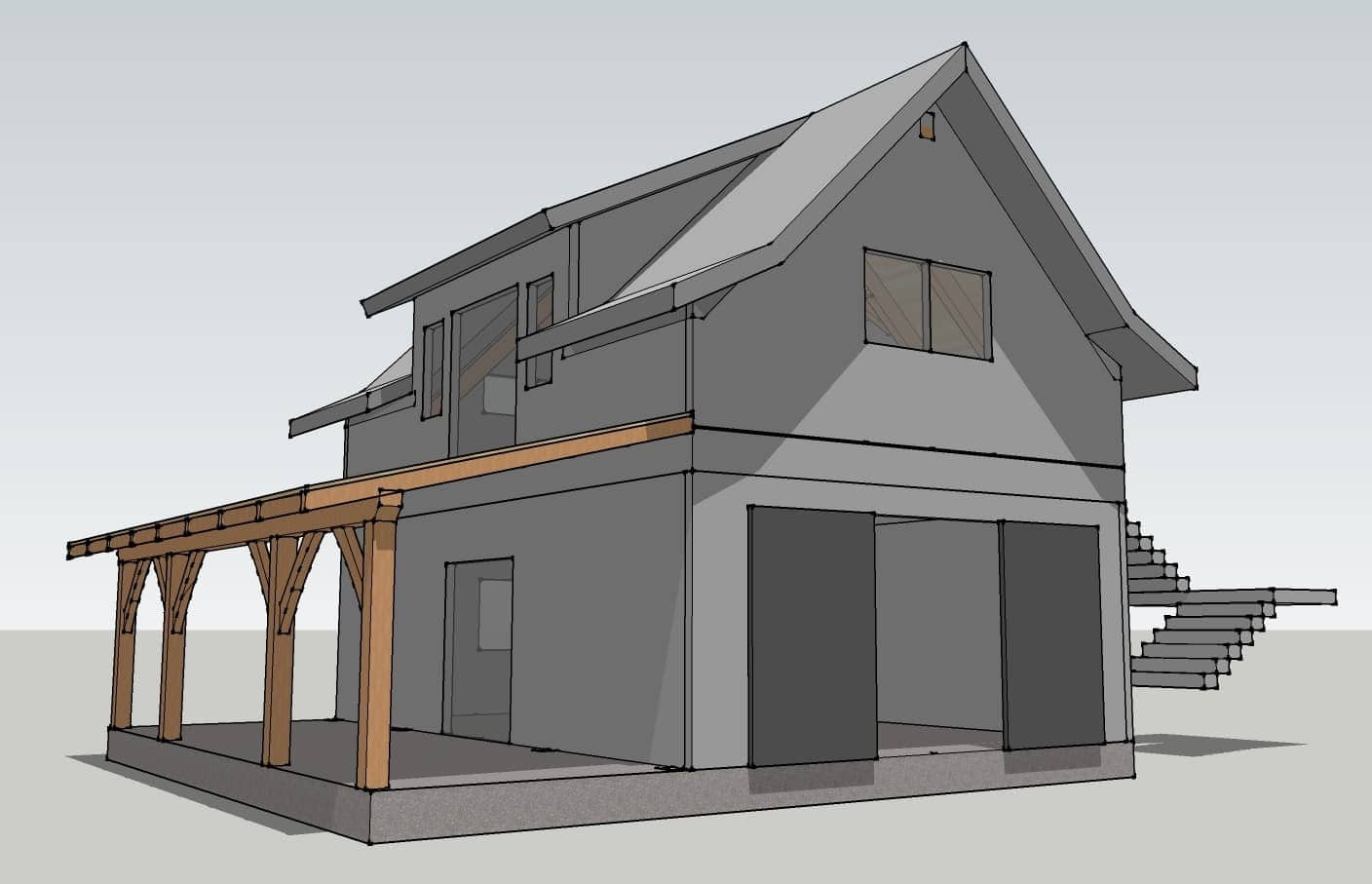 Garage Plans Timber Frame HQ – Post And Beam Garage Plans