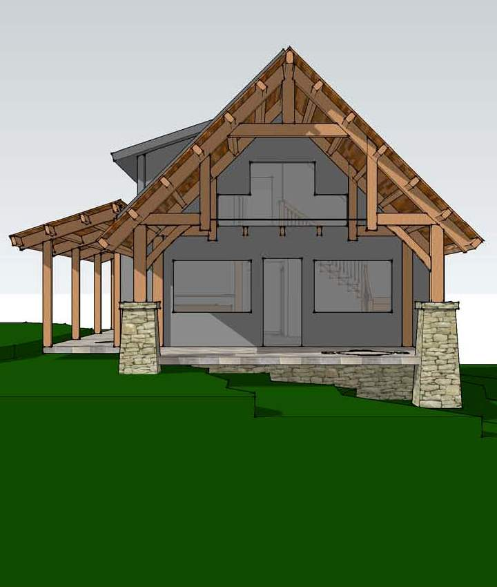 Tugaloo cabin a timber frame bungalow House plan kits