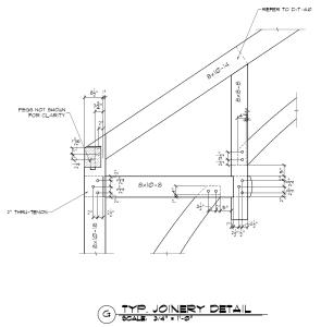 Hammer Beam Timber Frame Joinery Detail