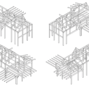 Timber Frame Isometiric Construction Details