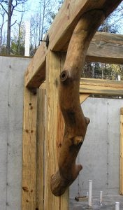 Organic Timber Frame Knee Brace Construction Detail