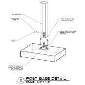 Timber Frame Post to Concrete Connection