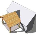 12x16 Timber Frame Porch Photo 4
