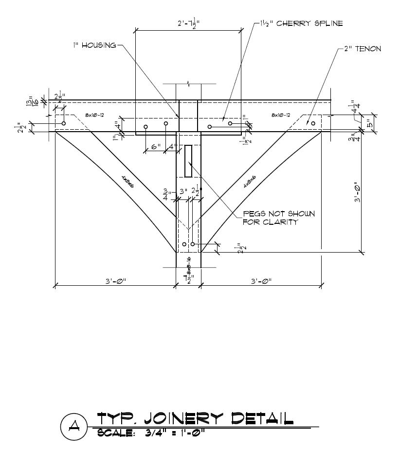 Typical Timber Frame Spline Connection Detail Knee Brace