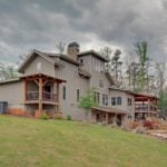 Rear of Timber Frame Home with Porches