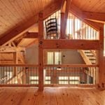 Timber Frame Loft Space with Stairs