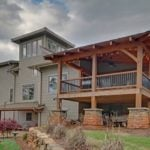 tower and timber frame lounging porch