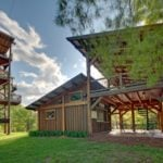 timber frame Zipline pavilion