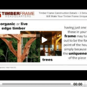 Timber Frame Construction Details Video