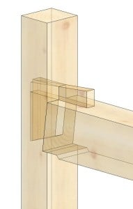 Wedged Half Dovetail Tie Beam
