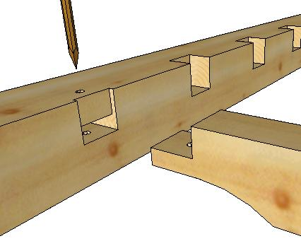Tying Joist Tenon And Pocket Timber Frame Hq