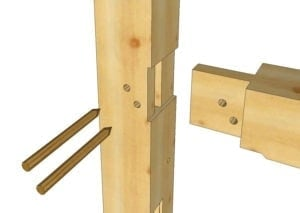 Tie beam to Post Tenon