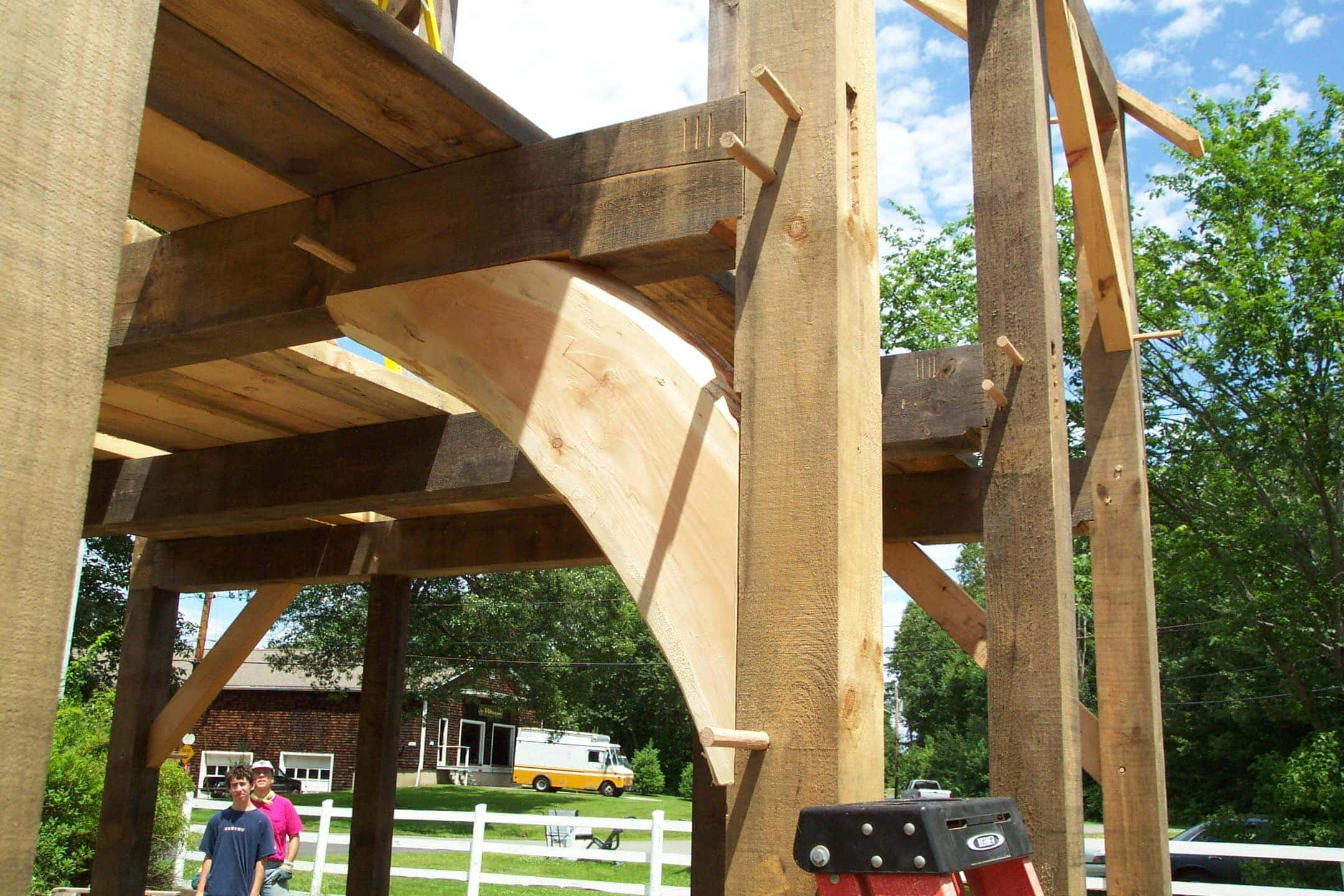 How To Make And Use Curved Knee Brace Stock Timber Frame Hq