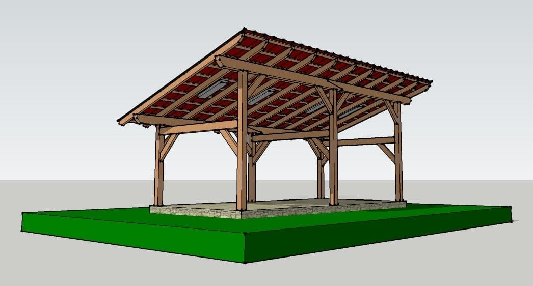14x30 timber frame shed barn for Timber frame designs