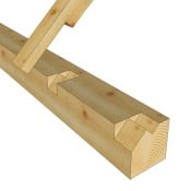 Stepped Lapped Timber Frame Rafter Seat