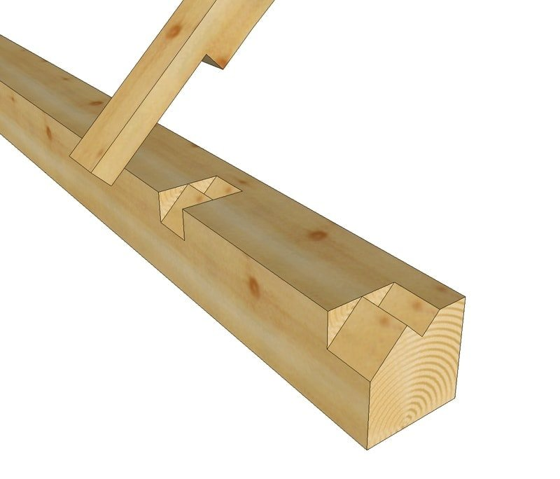 Step lap rafter seat on timber frame plate timber frame hq for Lumber calculator for walls