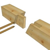 Timber Frame Bridle Scarf Joint