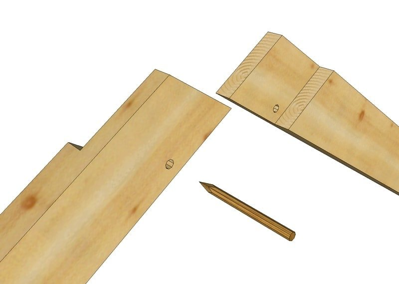 half lap timber frame rafters