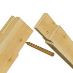Timber Frame Tongue and Fork Joint