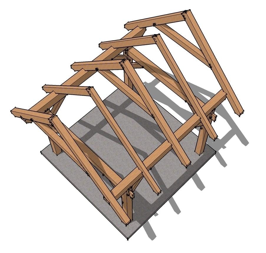 12x12 timber frame plan timber frame hq for Timber frame blueprints