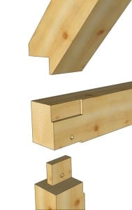Timber Frame Birds Mouth Joint