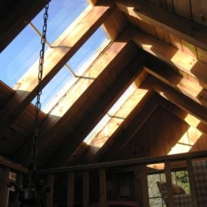 Interior of Timber Frame Shed