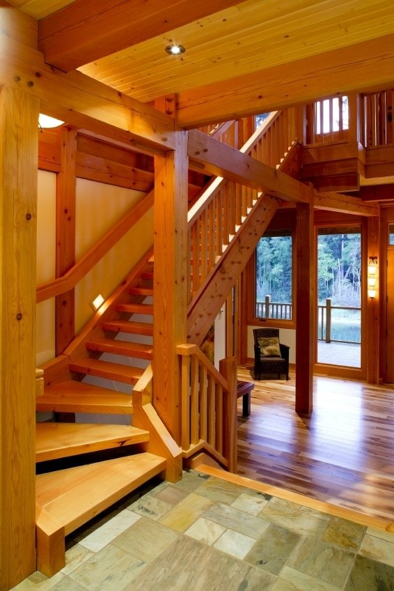 Small Timber Frame Stairs