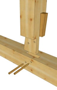 King Post to Tie Wedged Tenon