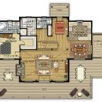 Carlton Main Floor Plan Colored