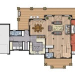 Dufferin First Floor Plan Colored