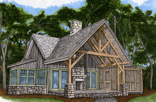 Piney Creek Timber Frame Cottage
