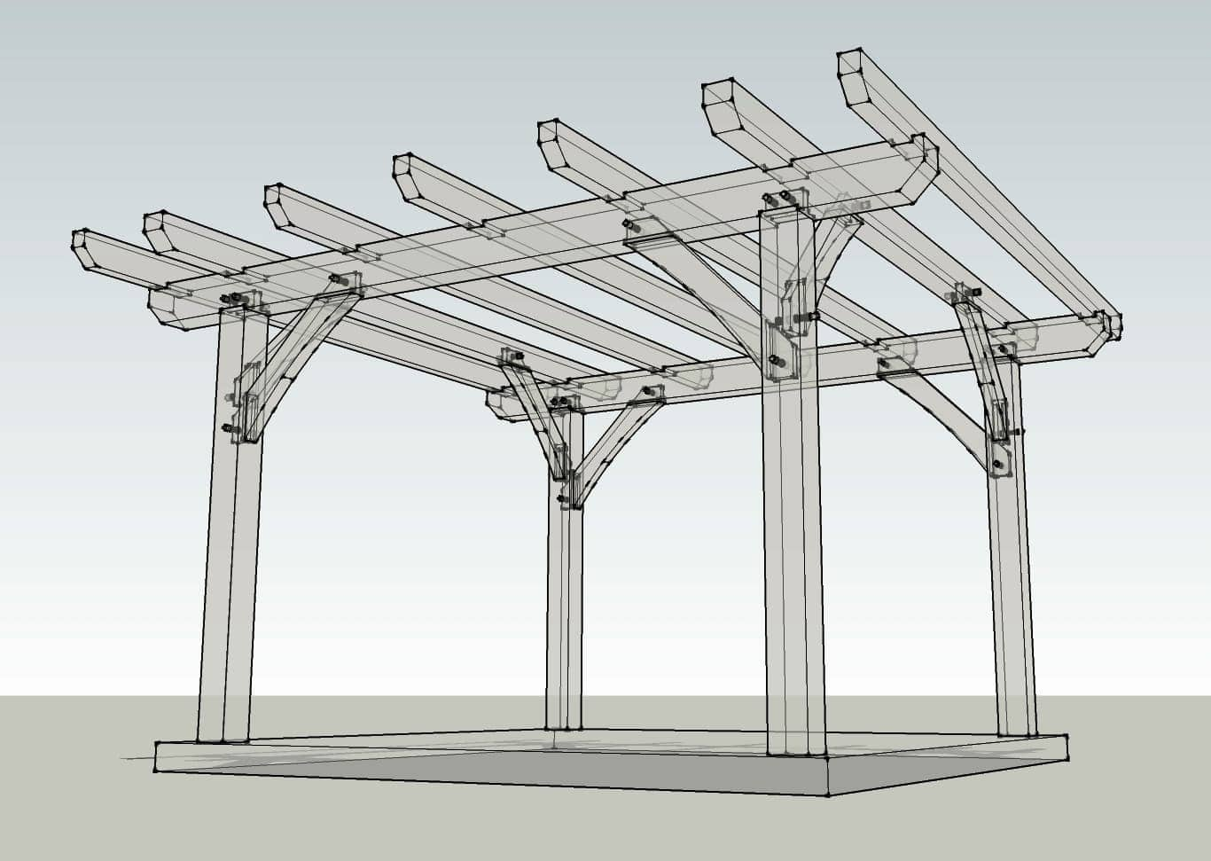 12x12 timber frame pergola plan timber frame hq for Plans de pergola