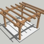 12x12 Post and Beam Pergola