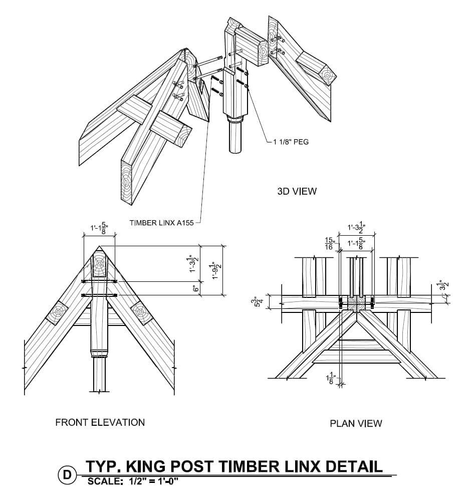 King Post Timber Linx Detail