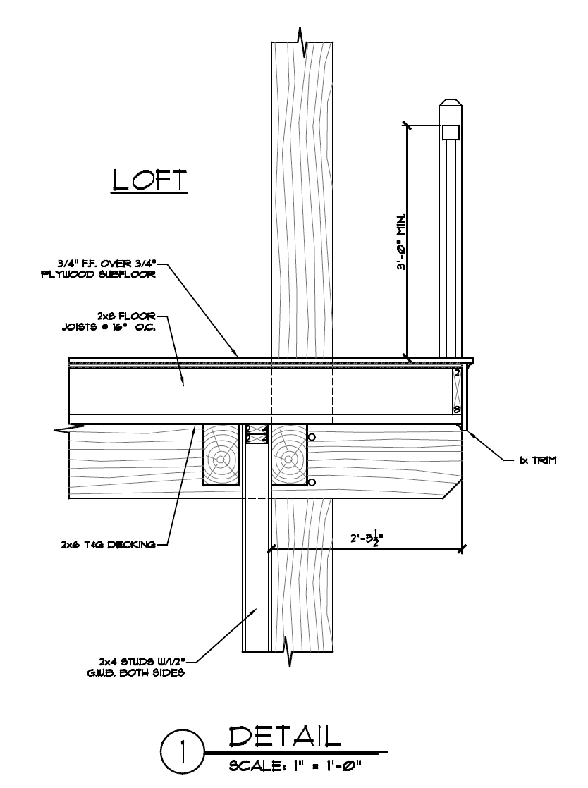 Overbuilt and overhung timber frame loft floor system for Loft floor construction