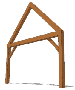 Timber Frame Common Truss