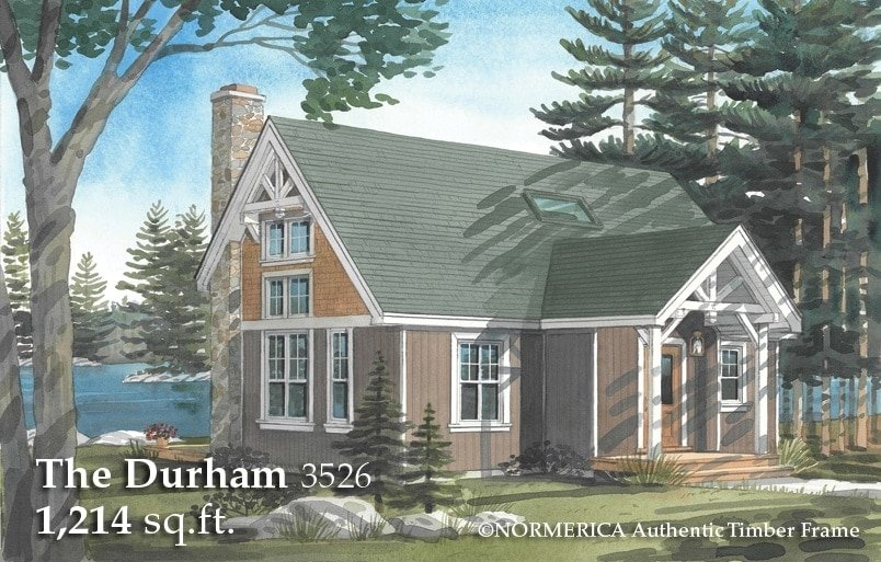 The durham a small timber frame saltbox timber frame hq for 2 bedroom timber frame house plans