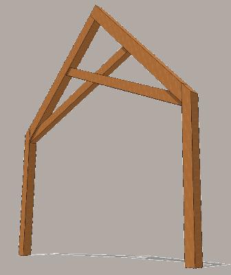 Scissor Truss Timber Frame Hq