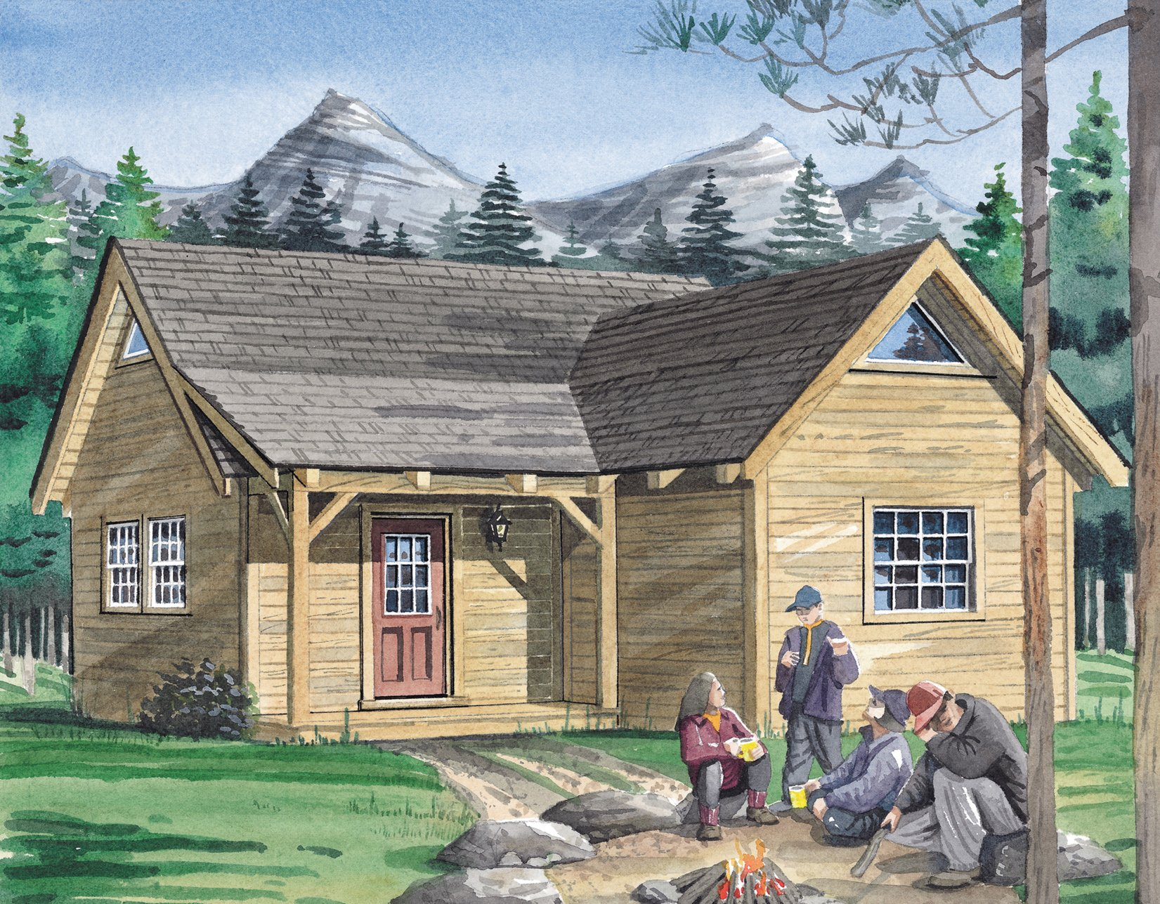 The denver timber frame hq Timber frame cottage plans