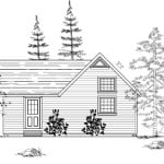 Denver Cabin Left Elevation