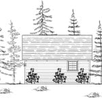 Denver Cabin Rear Elevation
