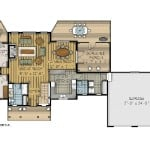 Addington First Floor Plan Colored