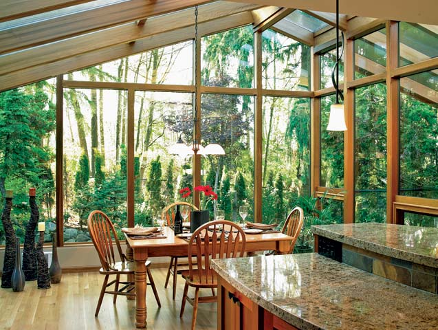 How to incorporate outdoor spaces into your home timber for Log home sunrooms