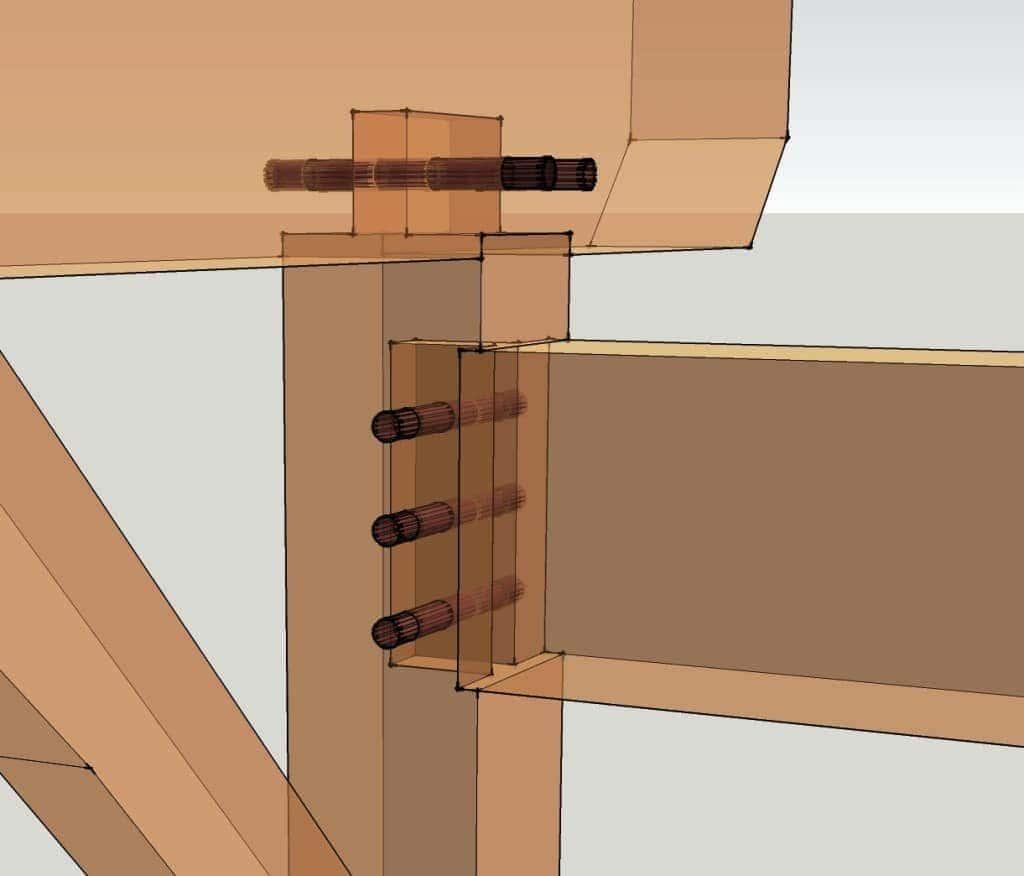 Full Timber Frame Housing Detail