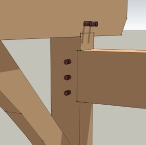 Fully Housed Mortise and Tenon Joint
