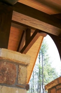 Curved Beams on a Porch Summer Maintenance