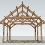 Front Elevation Timber Garage
