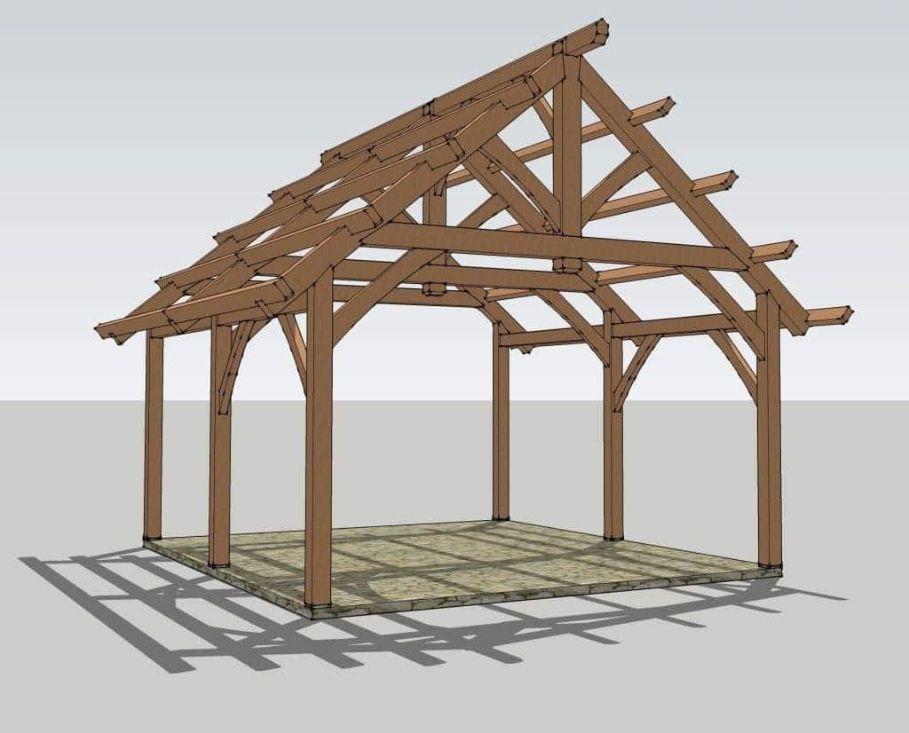 King Post Truss Pavilion