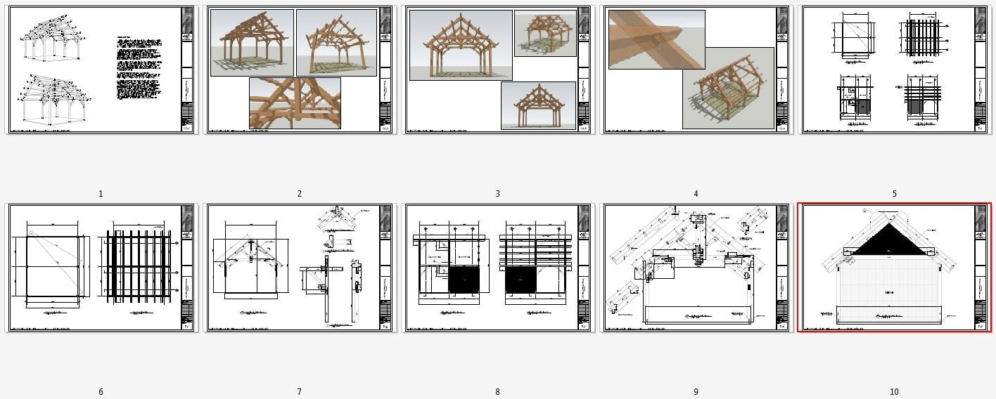 19x22 timbered pavilion timber frame hq for Pavillion house plans