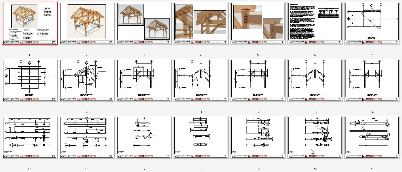 12x14 Timber Frame Plan - Timber Frame HQ